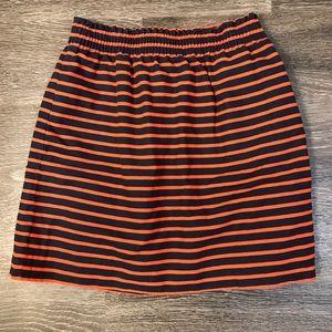 J Crew Stripe Sidewalk Skirt